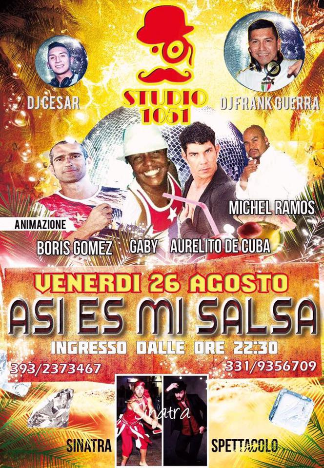 Asi Es Mi Salsa – Venerdì – Studio 1051