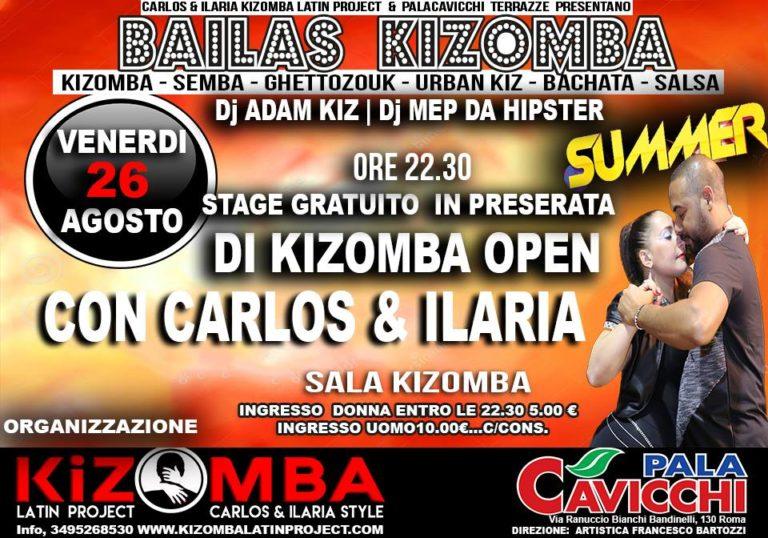 Bailas Kizomba Bachata Salsa – Venerdì – Palacavicchi